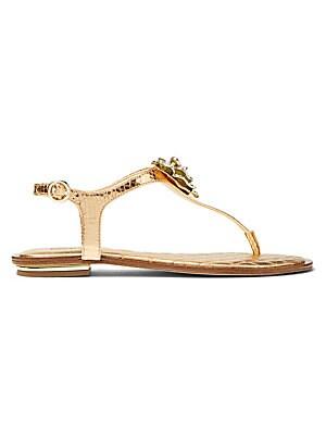 832fa856f62f MICHAEL Michael Kors - Lucia Crystal Flower Thong Sandals