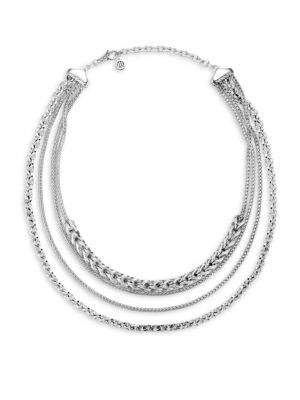 John Hardy Classic Chain Silver Multi-Strand Necklace
