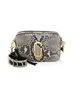e69a60f75 QUICK VIEW. Marc Jacobs. The Softshot 21 Snakeskin Leather Camera Bag