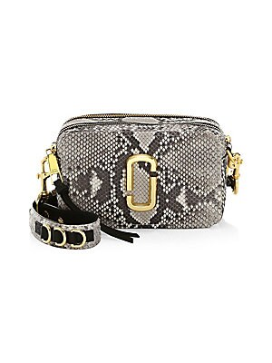1547ef7f1667 Marc Jacobs - The Softshot 21 Snakeskin Leather Camera Bag - saks.com