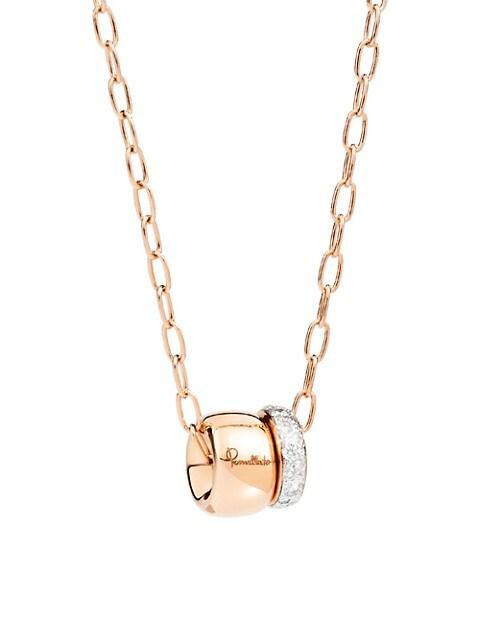 Iconica 18K Rose Gold & Diamonds Pendant Necklace