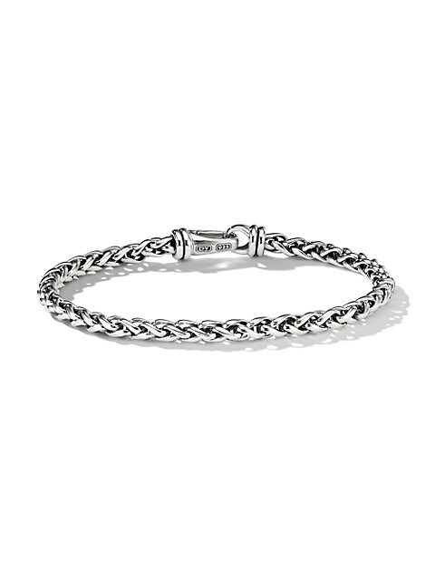 Chain Sterling Silver Wheat Bracelet