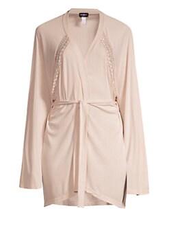 580026d5f191 Cosabella. Sweet Dreams Lace-Trim Robe