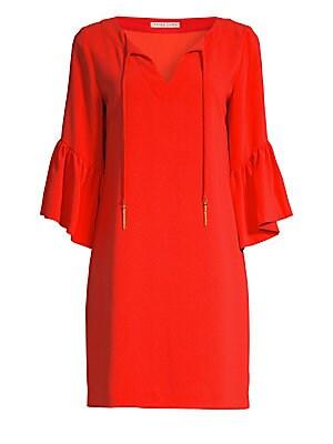 e6102e460cf GANNI - Kochhar Silk Drop Waist Dress - saks.com