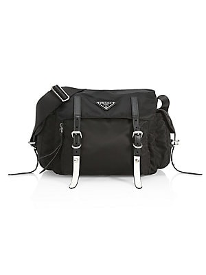 0fa05611bd71 Prada - Nylon Messenger Bag With Studding - saks.com