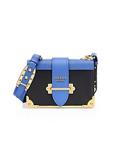 14f3bc09fa82 QUICK VIEW. Prada. Cahier Leather Crossbody Bag