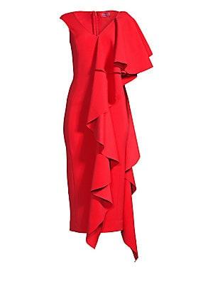 c09ca27de32 Solace London - Alora Cascading Ruffle Dress - saks.com