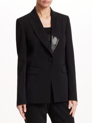 St. John Jackets Cady Tuxedo Jacket
