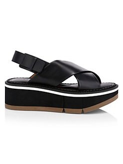 f6a63653699c Product image. QUICK VIEW. Clergerie. Anae Leather Platform Slingback  Sandals