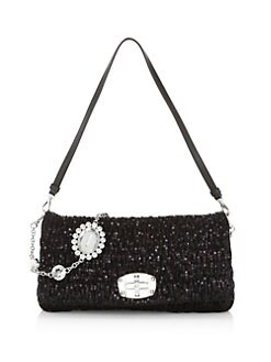 c88bfdfad236 QUICK VIEW. Miu Miu. Nappa Crystal Sequin Shoulder Bag