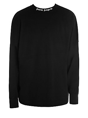 Cotton Logo Over Sweatshirt by Palm Angels
