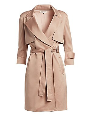 93517d498a Halston Heritage - Three-Quarter Sleeve Satin Trench Shirtdress - saks.com