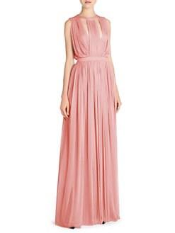 7946bfc5f9 Alexander McQueen. Sleeveless Gathered Evening Dress