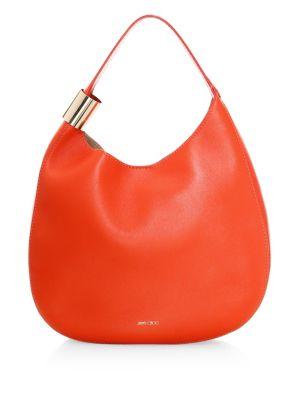 Stevie Leather Hobo Bag by Jimmy Choo