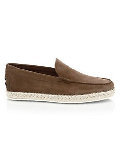 f67f7b3d812 Tod s. Suede Espadrille Loafers