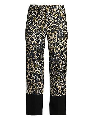 4bcd91e594af6 Smythe - Leopard Camo Crop Pants - saks.com