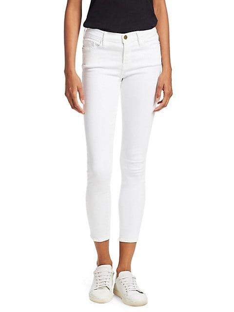 Le Color Mid-Rise Crop Skinny Jeans