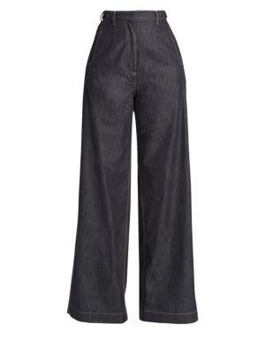 High-Rise Wide Leg Trouser Jeans in Indigo