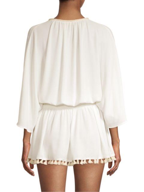 Ramy Brook Katana Blouson Tunic Dress   SaksFifthAvenue