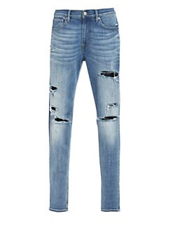 8f8a3d5429fa8 Hudson Jeans. Zack Ripped Skinny Jeans