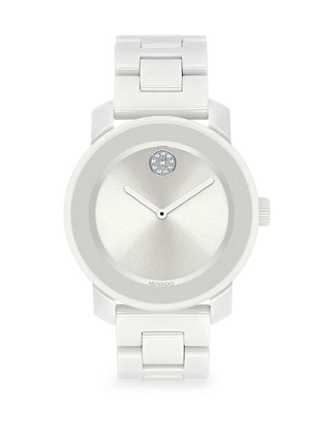 BOLD Swiss Quartz White Ceramic Bracelet Watch