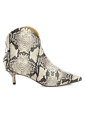c1262e833ef2 Chloé - Susanna Python Leather Ankle Boots - saks.com