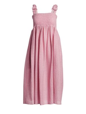 Marysia Sicily Smocked Linen Midi Dress