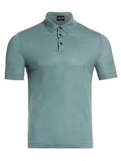 ba75b6d43 QUICK VIEW. Giorgio Armani. Piqué Wool Polo Shirt