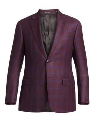Emporio Armani Two Button Plaid Sportcoat