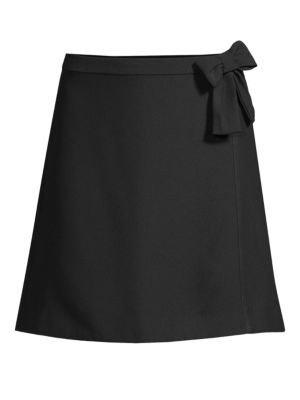 Bow A-Line Skirt in Black