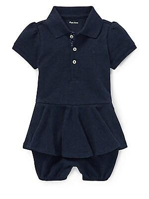 df2a30c5de7d Ralph Lauren - Baby Girl s Peplum Pique Bubble Romper - saks.com