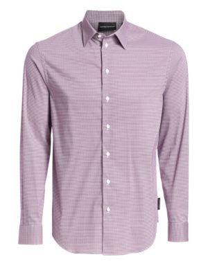 Emporio Armani Geometric Pattern Button Down Shirt