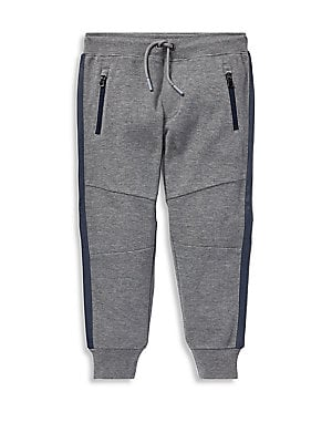 Image of An ideal match for Polo Ralph Lauren's performance hoodie, this jogger pant is made from the same adventure-ready fabric that will keep him comfortable. Ribbed drawstring waist Sewn fly Waist zip pockets Concealed zip pocket at the back right Articulated