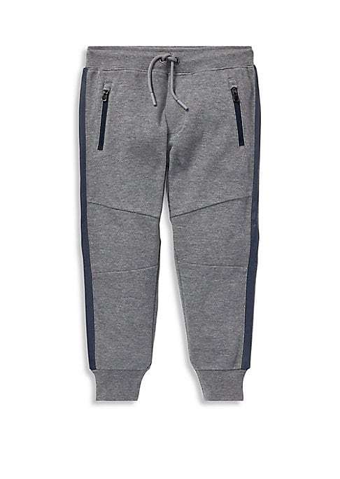 Image of An ideal match for Polo Ralph Lauren's performance hoodie, this jogger pant is made from the same adventure-ready fabric that will keep him comfortable. Ribbed drawstring waist. Sewn fly. Waist zip pockets. Concealed zip pocket at the back right. Articula