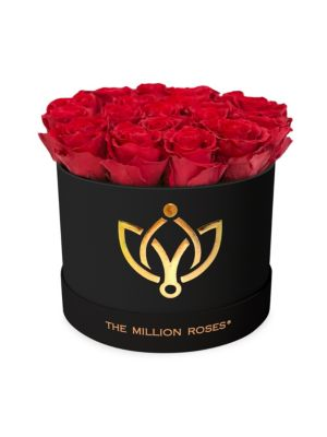 The Million Roses Classic Box Collection Roses In Black Round Box