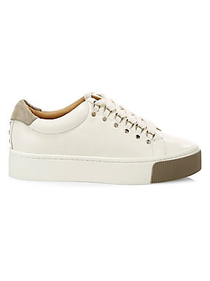 """Image of Blending the hiking boot with the low-top sneaker, this versatile calfskin shoe will enhance any outfit. Leather upper Round toe Lace-up vamp Leather lining Rubber sole Imported SIZE Platform sole, 1.5"""" (38mm). Women's Shoes - Contemporary Womens Shoe. Jo"""