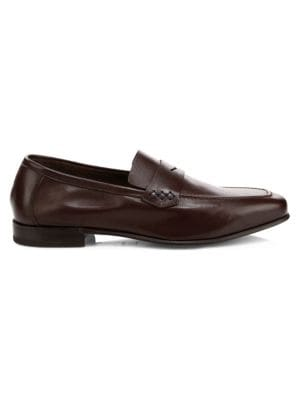 SUTOR MANTELLASSI Vito Slip-On Leather Loafers in Ebano