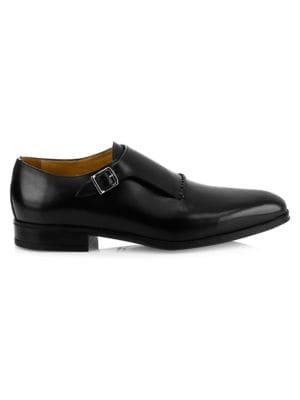 SUTOR MANTELLASSI Marzio Leather Monk Shoes in Black