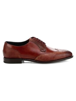 SUTOR MANTELLASSI Folco Leather Dress Shoes in Bigarade