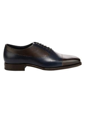 SUTOR MANTELLASSI Aldo Leather Dress Shoes in Ebano Night