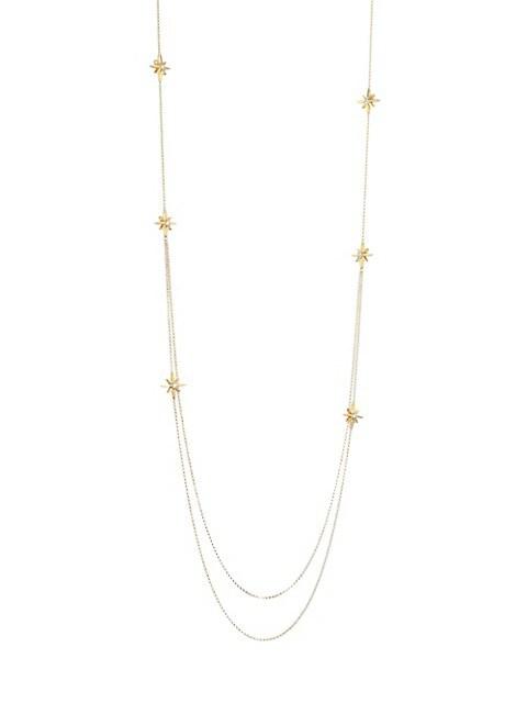Disney x Roberto Coin Princess Cinderella 18K Yellow Gold & Diamond Star Charm Necklace