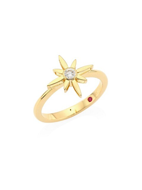 Disney x Roberto Coin Princess Cinderella 18K Yellow Gold & Diamond Star Ring