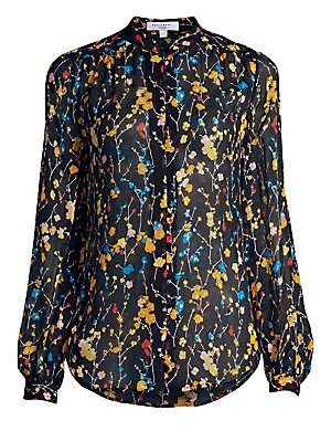9f2724f074a3b Equipment - Cornelia Floral Silk Blouse - saks.com