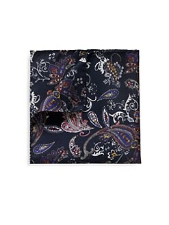 530d8b7d3f60 QUICK VIEW. Eton. Silk Paisley Pocket Square