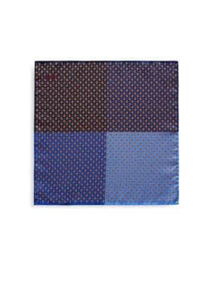 Eton Silk Four Quadrant Pocket Square