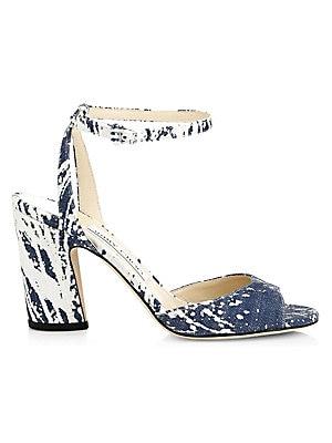 111609dba Sam Edelman - Ariella Leather Snake-Print Stiletto Sandals - saks.com