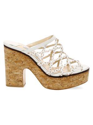 939d35c4c12d Jimmy Choo Dalina Braided Leather Mesh Mule Sandals