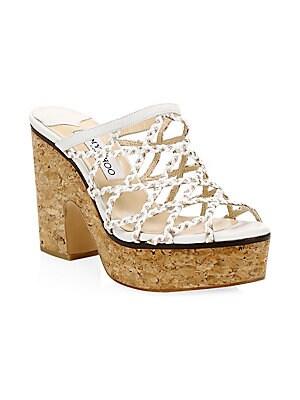 3f026b20813c Jimmy Choo - Dalina Braided Leather Mesh Mule Sandals
