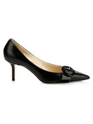 Leigh Leather Buckle Pumps by Jimmy Choo