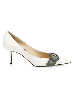 5f597d4e3ab6 QUICK VIEW. Jimmy Choo. Leigh Buckle Pointed Kitten Heel Pumps